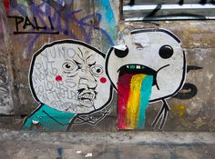 Y U NO PUT MORE COLOURS IN THE STREETS?! #streetart #london