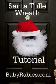 Tulle wreath- CUTE!