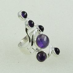 Exotic Design Amethyst Stone 925 Sterling Silver Ring _ Silver Jewelry Manufacturer India by JaipursilverindiaCo on Etsy