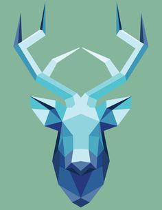 Cervo Origami Vetor Illustrator CC