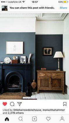 Are Dark Green Walls the New White Walls? (Short Answer: We Think Maybe) - Emily Henderson Are Dark Green Walls the New White Walls? (Short Answer: We Think Maybe) - Emily Henderson Home Living Room, Living Room Designs, Living Spaces, Living Area, Dark Walls Living Room, Dado Rail Living Room, Dado Rail Bedroom, Living Room Wall Colours, Picture Rail Bedroom