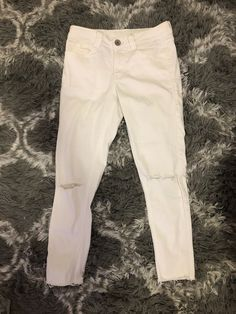 bca8a54b482 womens white ripped jeans  fashion  clothing  shoes  accessories   womensclothing  jeans (ebay link)