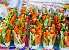 VEGGIE STICK CUPS! #College #Recipe #Healthy #Fitness