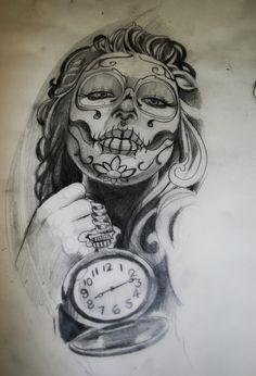 dia_de_los_muertos_girl_sketch_by_tattooneos-d3fqk6g.jpg (900×1323)