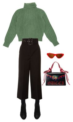 """Gucci"" by sophiemariewin ❤ liked on Polyvore featuring Alexander Wang, Yves Saint Laurent, Givenchy, Gucci and Topshop"