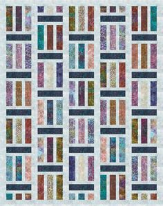 Traffic designed by Jaybird Quilts. Features Artisan Batiks: Terrace, shipping to stores August 2017. Roll-up friendly. Pattern available for purchase (jaybirdquilts.com) #artisanbatiks