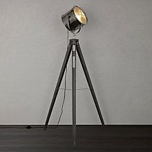 Buy John Lewis Jules Wood Marine Head Floor Lamp, Grey Online at johnlewis.com This is very maritime Cooper!