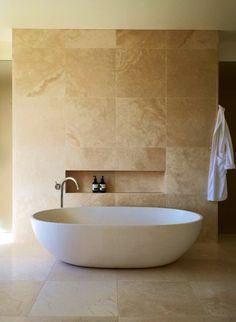 From 'Luxe Redux', a story in Vogue Living Jan/Feb Photograph by Earl Carter.From 'Luxe Redux', a story in Vogue Living Jan/Feb Photograph by Earl Carter. Travertine Bathroom, Beige Bathroom, Bathroom Flooring, Modern Bathroom, Master Bathroom, Travertine Floors, Master Shower, Bathroom Pictures, Bath Shower