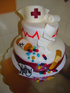 This cake I made for a nurse retiring from her job at Hospice! <3