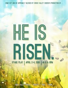 Christ Is Risen Church Flyer