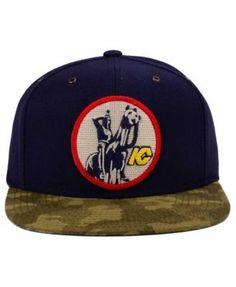 Ccm Kansas City Scouts Fashion Camo Snapback Cap - Navy/Camo Adjustable