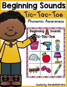 Phonemic Awareness Tic-Tac-Toe (Beginning Sounds)
