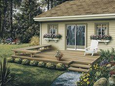 No railing deck - simple