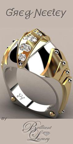 Brilliant Luxury ♦ Greg Neeley Knights Vision Mens Ring