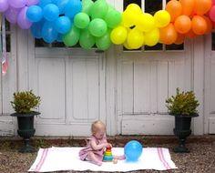 Rainbow balloon banner!!! Sabrina!!!