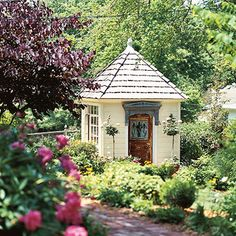 Cottage-style potting shed