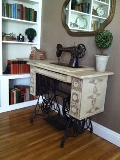 Antique Singer Sewing Table  Console Entry by galeckigirls on Etsy, $425.00