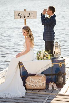 Vintage Nautical Styled Shoot - Heirloom Events and Decor Vintage Nautical Wedding, Rowing Club, Antique Chest, Ottawa, Lanterns, Wedding Planner, Suitcase, Wedding Decorations, Antiques