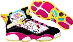 buy popular 020e9 10b20 Hello Kitty Jordan Sneakers!   LUUUX
