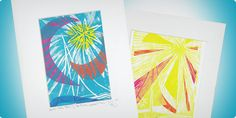 """Connector Paints with the Pochoir Color Process"" lesson plan by Faber-Castell for grades The Pochoir Process is intended to add color to small areas of relief prints through a stencil method. Diy Projects For Kids, School Art Projects, Fun Crafts For Kids, High School Art, Middle School, Painting Lessons, Art Lessons, Popular Art, Teacher Tools"
