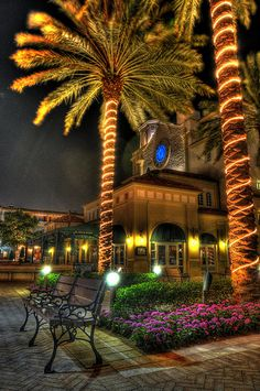West Palm Beach - Cityplace at night