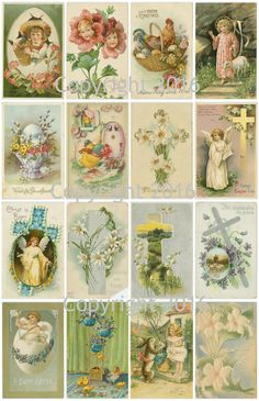 Hey, I found this really awesome Etsy listing at https://www.etsy.com/listing/273040532/printable-victorian-easter-cards-collage
