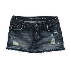 חצאית גינס ❤ liked on Polyvore featuring skirts, bottoms, shorts and jeans