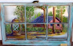 © Old Window Art - Very pretty painted windows on this website
