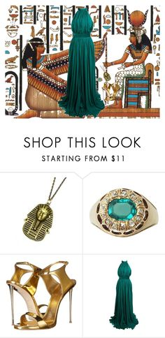 """Queen Cleopatra"" by mprocedi on Polyvore featuring moda, Isis, Hannah Makes Things, Giuseppe Zanotti e Alexander McQueen"