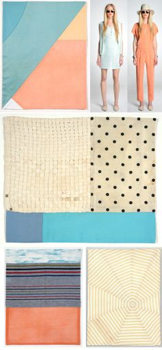 gorgeous fabric works by louise bourgeois + Jenni Kayne resort pastels… Textiles, Textile Patterns, Color Patterns, Color Trends, Color Combos, Color Schemes, Color Stories, Illustrations, Pantone Color