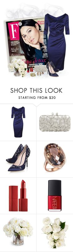 """""""Piu bella cosa"""" by akhesa10 ❤ liked on Polyvore featuring Talbot Runhof, RALPH & RUSSO, Bloomingdale's, NARS Cosmetics, New Growth Designs, Rebecca White and Chanel"""