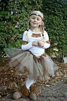 Indian Squaw Costume. Costumes don't just have to be for Halloween. How cute would this be as a Thanksgiving outfit!