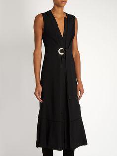 Sleeveless V-neck crepe dress | Proenza Schouler | MATCHESFASHION.COM US