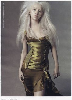 VERSACE Fall Winter 2003 featuring CHRISTINA AGUILERA photographed by STEVEN MEISEL
