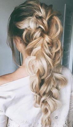 pulled fishtail braids | blonde balayage long hair ideas