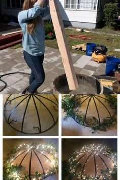 Patio lighting made easy for you! Hanging Patio Lights, Patio Lighting, Make It Simple, Awesome, Easy, Outdoor Decor, Projects, Home Decor, Log Projects
