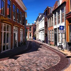 Groningen, Netherlands. Love these streets. They were laying Barbara and Olav's street when Phyllis and I were there.