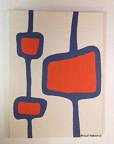 Mid Century Modern Art, Mid Century Art, Art For Art Sake, Art Party, Retro Art, Artist Art, Oeuvre D'art, Painting Inspiration, New Art