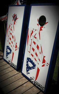 71d42014e8ac4 Fishing G-Loomis Cornhole Board Set Hand Painted