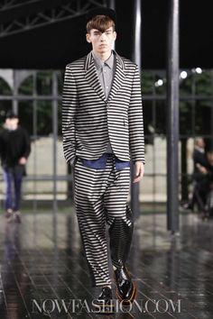 John Galliano Menswear Spring Summer 2014 Paris. Prison Couture