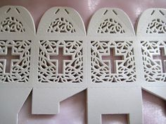 Holy Cross White Favor Boxes for Christening by TinyLittleCharms
