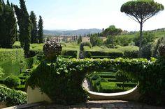 The gardens of Villa I Tatti, Florence, Italy.