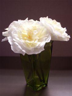 Coffee Filter Flowers...tutorial here: http://www.happinessishomemade.net/2011/03/14/coffee-filter-flowers/