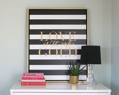 Love is the Only Gold Canvas #lindsaylettersshop