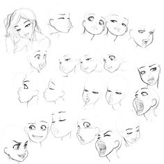 facial 45 120001 by *styloide on deviantART ✤ || CHARACTER DESIGN REFERENCES | キャラクターデザイン • Find more at https://www.facebook.com/CharacterDesignReferences if you're looking for: #lineart #art #character #design #illustration #expressions #best #animation #drawing #archive #library #reference #anatomy #traditional #sketch #development #artist #pose #settei #gestures #how #to #tutorial #comics #conceptart #modelsheet #cartoon #face #female #woman #girl || ✤