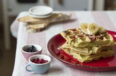 zdravé vafle recept Fitness, Breakfast, Food, Waffles, Morning Coffee, Essen, Meals, Yemek, Eten