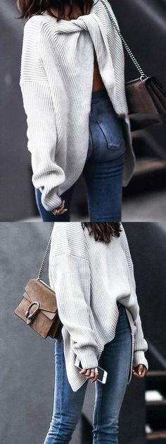 Free Shipping Worldwide     15% OFF First Order    Buy 3 /$39.99+ Get 1 FREE Gift   Knit fabric; Long sleeve; Knot back; Suitable for autumn wear; Chic style; Machine wash; Regular fit; Stretchable material; 71%Acrylic+26%Polyester+3%Elastance;  One size:Bust:64cm,Length:73cm,Sleeve Length:46cm;