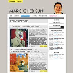 La Factoria a réalisé le site Marc Chebsun, le créateur de Respect Mag !