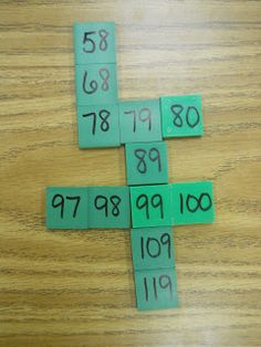 Number Puzzles in the Bag - great for one more, ten more understanding number