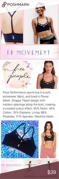 NEW!  Free People Moonshadow T-strap sports bra Incredibly soft, beyond-comfy sports bra by Free People features stylish neckline cut-outs and is available in all black to look under absolutely everything!  Made from ultra-soft material, you will not miss the days of unfit table bras!  Size is small, accommodating a top size 4-6.  Brand new, never worn!  No trades please. Free People Intimates & Sleepwear Bras